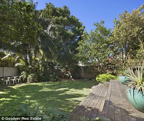 Granger (left) bought the house in 2008. It is situated amid established gardens on a  approx 590sqm block