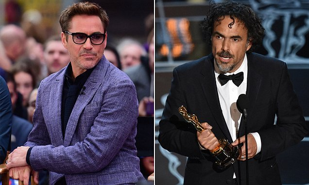 Robert Downey Jr sparks is accused of making a racist remark about Mexican director