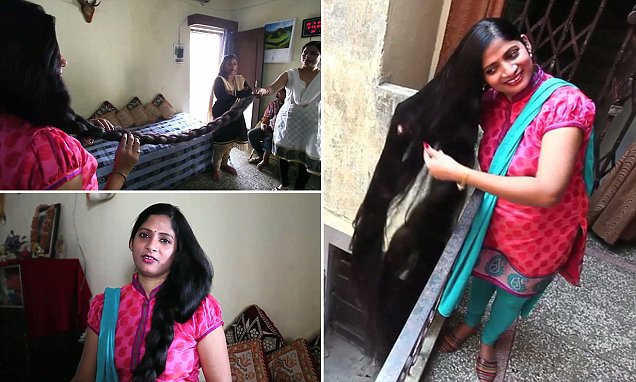 Indian woman with seven-foot-long hair hopes to becoming Guinness World Record holder