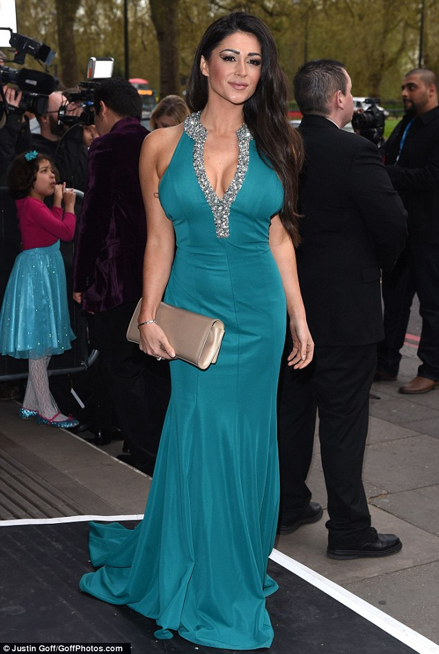 Stealing the limelight: Casey Batchelor pulled out all the stops as she arrived at the fifth annual Asian Awards, which was held at London's Grosvenor hotel on Friday