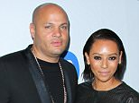 LOS ANGELES, CA - FEBRUARY 08:  Film Producer Stephen Belafonte (L) and Recording Artist Melanie Brown (R) attend the Warner Music Group annual GRAMMY celebration at Chateau Marmont on February 8, 2015 in Los Angeles, California.  (Photo by Paul Archuleta/FilmMagic)