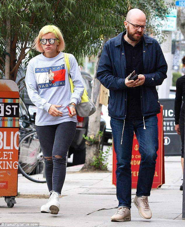 Old pals: Lily Allen was out and about with her ex Seb Chew on Friday in Los Angeles