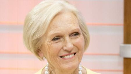 EDITORIAL USE ONLY. NO MERCHANDISING  Mandatory Credit: Photo by ITV/REX Shutterstock (4673581af)  Mary Berry  'Good Morning Britain' TV Programme, London, Britain. - 17 Apr 2015