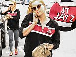 Picture Shows: Amy Adams  April 24, 2015    'Man Of Steel' actress Amy Adams is seen chatting on her cell phone after leaving a pilates class in Hollywood, California. Amy can been seen rocking a Justin Timberlake - Jay-Z tour jacket.     Exclusive All Rounder  UK RIGHTS ONLY    Pictures by : FameFlynet UK ? 2015  Tel : +44 (0)20 3551 5049  Email : info@fameflynet.uk.com