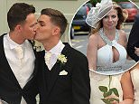 Mandatory Credit: Photo by REX Shutterstock (4710906o)  Kieron Richardson and Carl Hyland with bridesmaids  The wedding of Kieron Richardson and Carl Hyland at The Devonshire Dome, Buxton, Britain - 25 Apr 2015