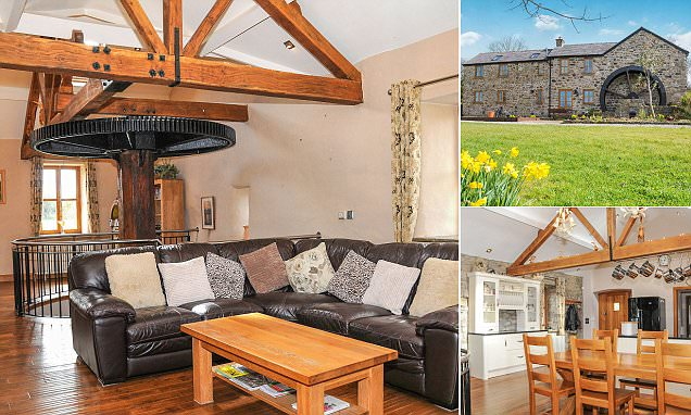 A corn mill for less than a million: 700-year-old building has four bedrooms, open plan