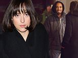 NEW YORK, NY - APRIL 24:  Actors Damon Wayans Jr. (L) and Dakota Johnson seen filming 'How to be Single' on April 24, 2015 in New York City.  (Photo by Michael Stewart/GC Images)