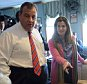 MANCHESTER, NH - APRIL 15: New Jersey Governor Chris Christie (L) and his wife Mary Pat Foster greet diners at Chez Vachon April 15, 2015 in Manchester, New Hampshire. The governor is on a four day swing through the first in the nation primary state as he explores a run for the Republican nomination for president. (Photo by Darren McCollester/Getty Images)