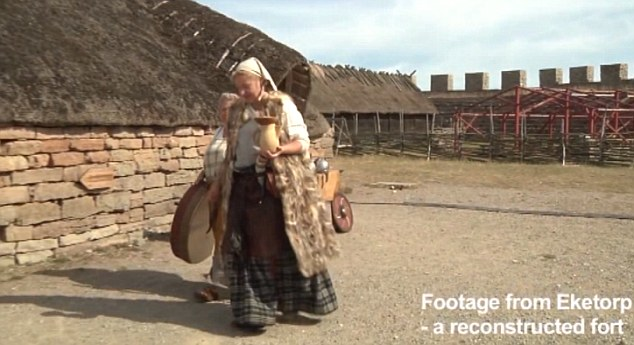 A reconstruction of the fort on the island gives some idea what life was like was for the residents
