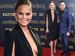 Chrissy Teigen, left, and John Legend arrive at the 42nd annual Daytime Emmy Awards at Warner Bros. Studios on Sunday, April 26, 2015, in Burbank, Calif. (Photo by Richard Shotwell/Invision/AP)