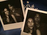 """#FBF to last week with @IanSomerhalder shooting our final ""Damon and Elena"" scene.  #TVDFamily #PolaroidSeries"""