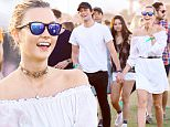 EXCLUSIVE: Karlie Kloss and boyfriend Joshua Kushner are all smiles as they walk hand in hand at Stagecoach in Indio, CA.  Pictured: Joshua Kushner, Karlie Kloss Ref: SPL1008146  260415   EXCLUSIVE Picture by: Sharpshooter Images / Splash   Splash News and Pictures Los Angeles: 310-821-2666 New York: 212-619-2666 London: 870-934-2666 photodesk@splashnews.com