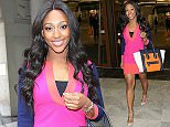 Picture Shows: Alexandra Burke  April 26, 2015\n \n Actress and singer Alexandra Burke seen leaving Sunday Brunch in London, England.\n \n The kind-hearted star, who was wearing a pink mini dress with blue contrast sleeves, was happy to stop and greet eager fans waiting outside the studio.\n \n Non Exclusive\n WORLDWIDE RIGHTS\n \n Pictures by : FameFlynet UK © 2015\n Tel : +44 (0)20 3551 5049\n Email : info@fameflynet.uk.com