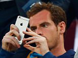 BARCELONA, SPAIN - APRIL 21:  Tennis player Andy Murray takes a photograph from the stand prior toduring the UEFA Champions League Quarter Final second leg match between FC Barcelona and Paris Saint-Germain at Camp Nou on April 21, 2015 in Barcelona, Spain.  (Photo by Clive Rose/Getty Images)