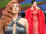 Mandatory Credit: Photo by Amy Harris/REX Shutterstock (4711145b)\n Tony Bennett and Lady Gaga\n 2015 New Orleans Jazz & Heritage Festival, New Orleans, America - 26 Apr 2015\n \n