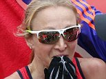 Paula Radcliffe at the end of the 2015 Virgin Money London Marathon. PRESS ASSOCIATION Photo. Picture date: Sunday April 26, 2015. See PA story ATHLETICS London. Photo credit should read: David Daviesy/PA Wire