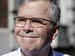Former Florida Gov. Jeb Bush speaks to reporters as he leaves an event in New York, Thursday, April 23, 2015. (AP Photo/Seth Wenig)