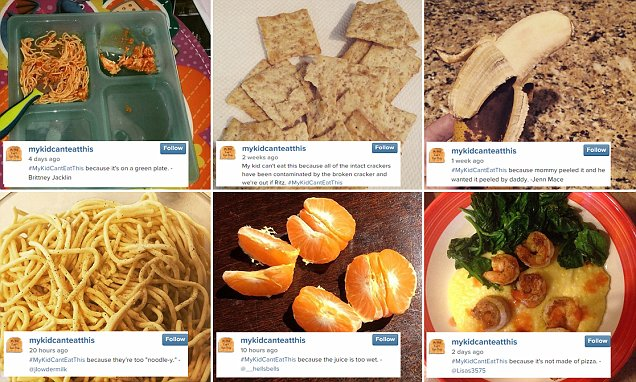 Instagram's #MyKidCantEatThis reveals reasons why children refuse to eat food