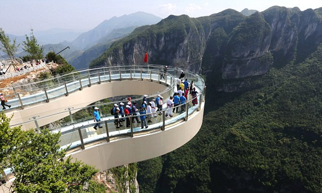 World's largest glass walkway opens in China with panoramic views