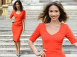 EMBARGOED - DO NOT USE BEFORE 00.01 ON MONDAY 27 APRIL 2015  Mandatory Credit: Photo by Ray Tang/REX Shutterstock (4710807l)  Myleene Klass  Classic FM VE Day at 70 concert photocall, Royal Albert Hall, London, Britain - 24 Apr 2015