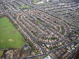 Cricklewood housing district - aerial photograph