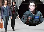 NEW YORK, NY - APRIL 26: Adam Shulman and Anne Hathaway are seen in New York City on April 26, 2015 in New York City.  (Photo by Nancy Rivera/Bauer-Griffin/GC Images)