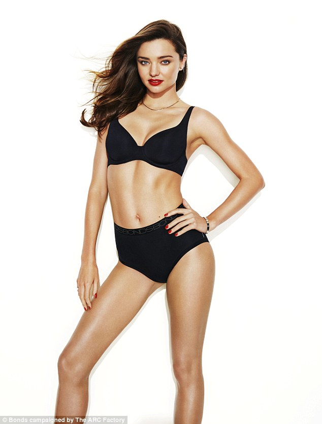Cheap thrills: Miranda Kerr, 32, can make anything look like it's worth a million bucks- even affordable undies