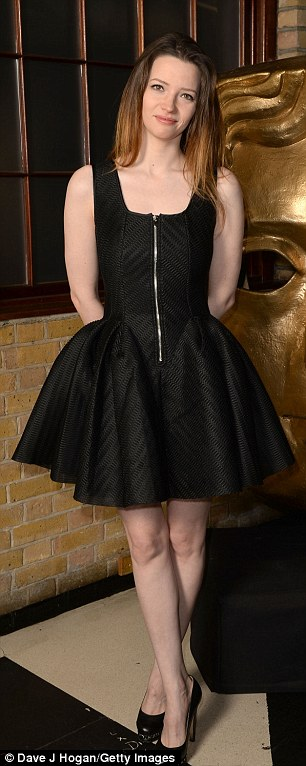 Celebrating talent: Newly-single actress Talulah Riley put on an elegant display in a short skater