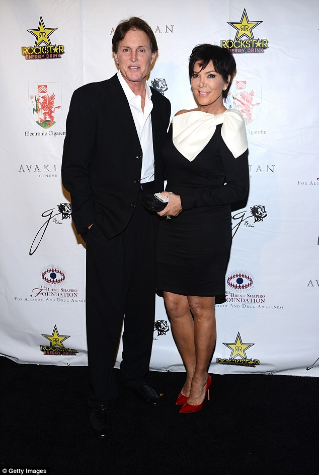 Former flame: Bruce with ex-wife Kris Jenner, before he began his 'journey' to change his gender - she has expressed her support for him following his interview