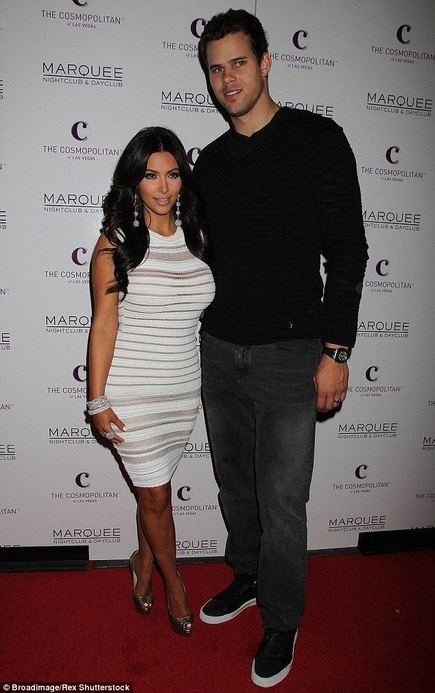 Ex factor:  Kris, pictured with Kim in October 2011, was married to the reality TV star for just 72 days before she filed divorce