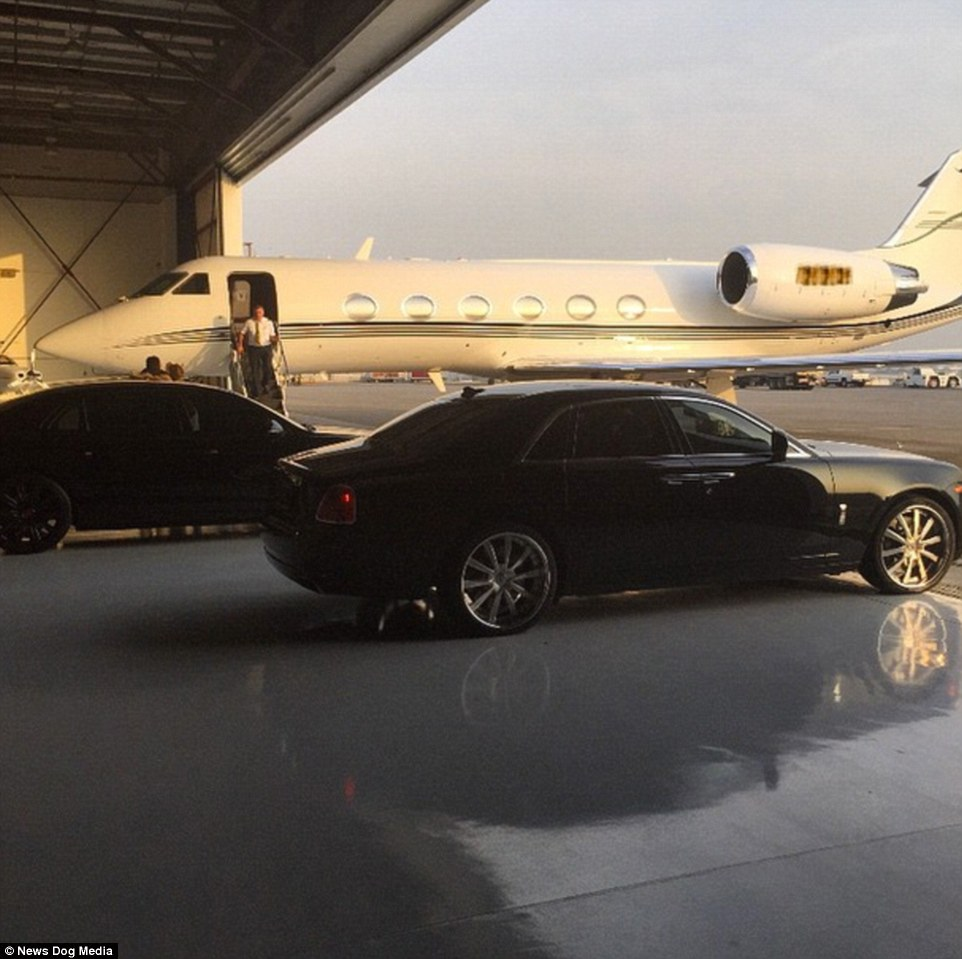 Travels in style: The American entrepreneur enjoys a lavish lifestyle and many of his photos feature private jets and helicopters
