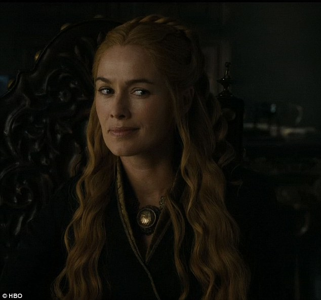 Tough time: Cersei  hid her disdain for her daughter-in-law Margaery for the time being