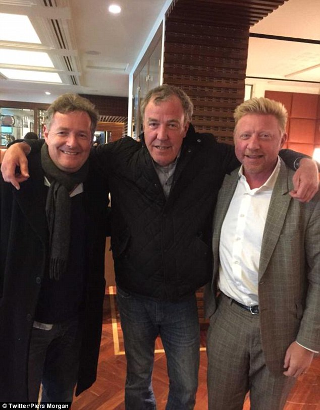 Terrific trio: 'BREAKING NEWS: Jeremy Clarkson reveals his new TV car show team', Piers joked