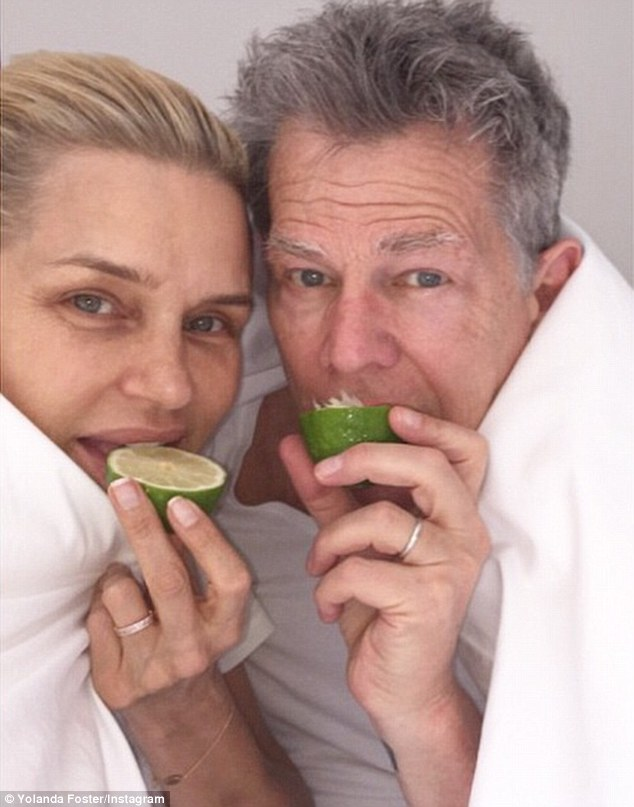 Just a wedge: Yolanda has urged her fellow Bravo-lebrities and A-list friends to take a bite out of lime for the Lyme Challenge as she posted this snap on April 19
