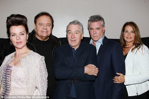 The stars of Martin Scorsese's classic gangster film Goodfellas, Debi Mazar, Paul Sorvino, Robert De Niro, Ray Liotta and Lorraine Branco (from left to right) reunited in New York on Saturday night for a very special 25th anniversary screening of the movie which brought the 14th annual Tribeca Film Festival to a close