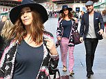 Picture Shows: Lisa Snowdon  April 27, 2015\n \n Lisa Snowdon spotted at Capital Radio in London. Lisa worked a boho style, pairing baggy print trousers with an oversize cardigan and navy hat.\n \n Non Exclusive\n WORLDWIDE RIGHTS\n \n Pictures by : FameFlynet UK © 2015\n Tel : +44 (0)20 3551 5049\n Email : info@fameflynet.uk.com