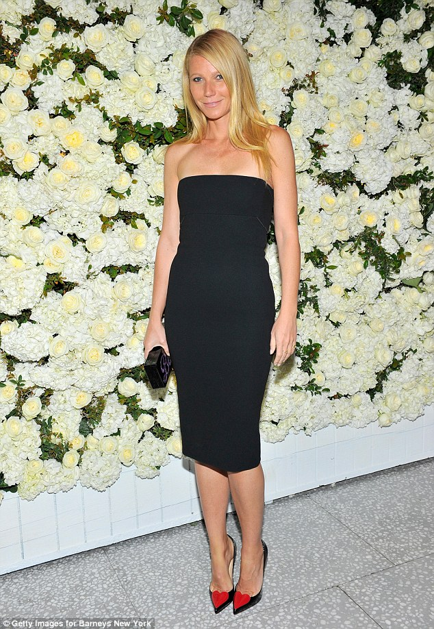 'Green queen': Like The Honest Company owner Jessica, Gwyneth is all about staying clean and healthy inside as well as out; Gwyneth was pictured on April 14