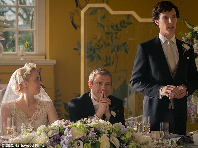 Later, while hosting a talk onstage at the convention, Cumberbatch (pictured in Sherlock) admits that he finds high-profile celebrity difficult