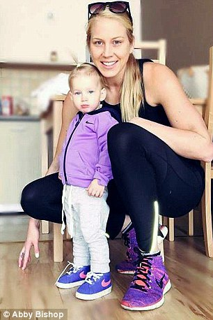 Abby Bishop's (right) life completely changed when she took in her  niece Zala (left)