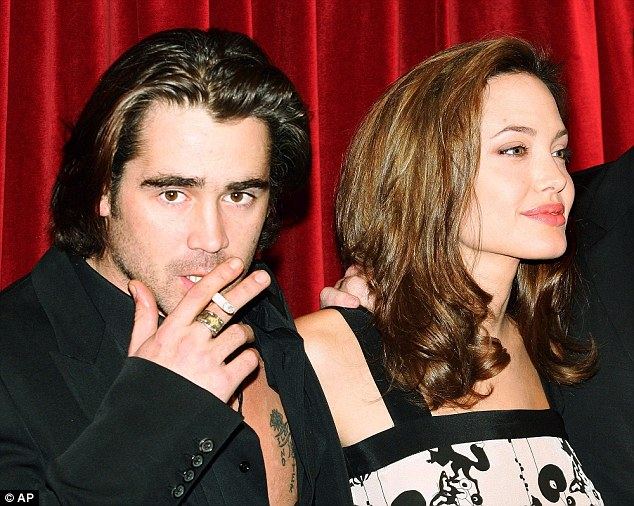 On the set of film Alexander, Colin Farrell was reported to have had flirtations with Angelina Jolie