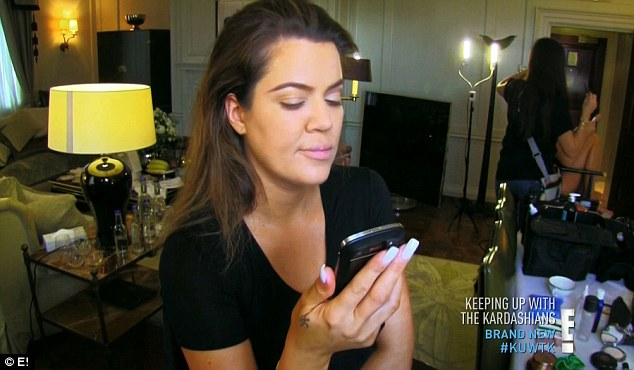 Off the wagon: Khloe spoke to an inebriated Scott who called because he bizzarely wanted to give her brother Rob a hug
