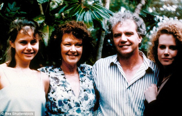 Family photo: Antonia, Janelle, Dr. Antony and Nicole are seen here in 1990. Nicole said at his funeral she was 'so lucky' to be her father's daughter