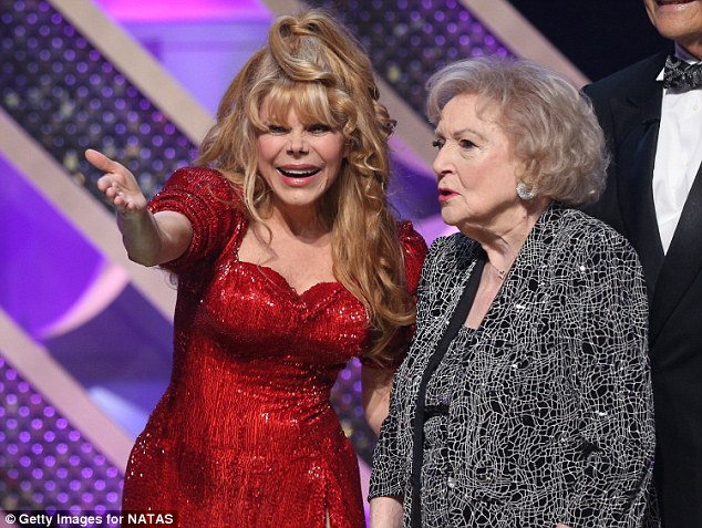 Television stars: Charo participated in a bit that revealed Betty was the Lifetime Achievement Award honoree