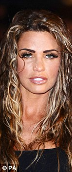 Many women are still trying to recover from the  Scouse brow of recent years. Pictured: Katie Price