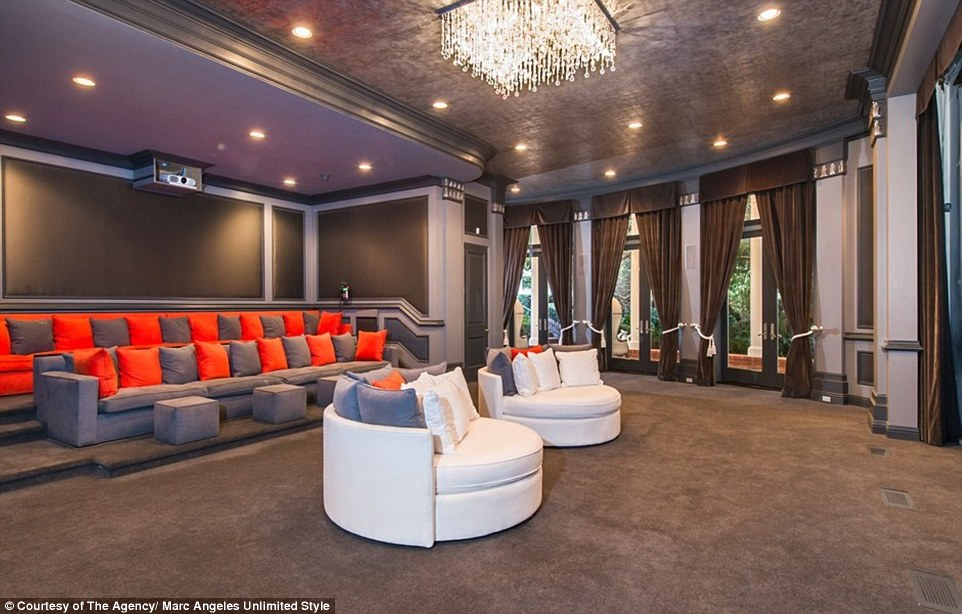 There is also a private 6,000 sq ft movie theater, which features its own popcorn and snack bar