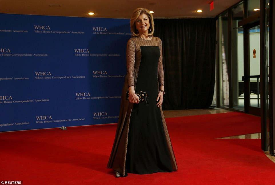 Glittering: The dinner, dubbed 'nerd prom', is the biggest event on Washington DC's social calendar. Above, journalist Arianna Huffington