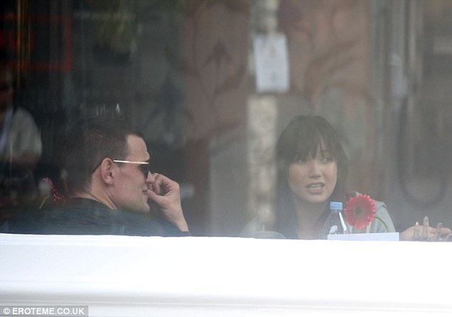 Reunion: Actor Matt Smith, in a pair of sunglasses, and ex-girlfriend Daisy Lowe enjoy lunch together