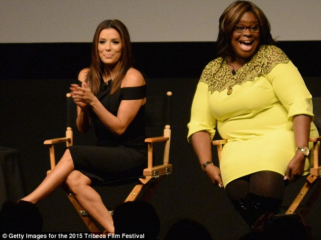 New roles: Eva joined Parks And Recreation comedic actress Retta, who was promoting her film Versus