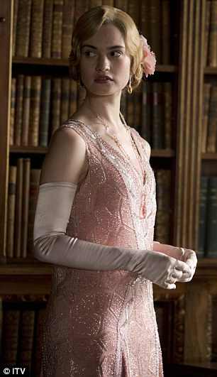 Tipped to be a heroine: Lily James as Lady Rose in Downton Abbey