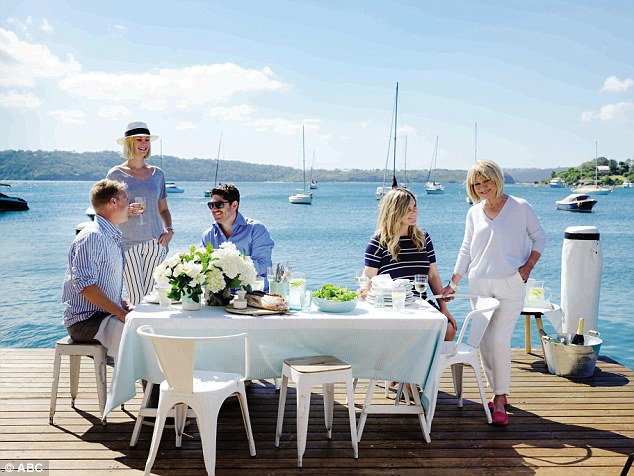Pomeranz (right) along with her daughter-in-law (second from right) have released a book with their favourite recipes and stories of mixing with celebrities over the years